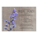 Rustic Hyacinth Bridal Shower Invitations 13 Cm X 18 Cm Invitation Card
