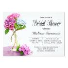 Rustic Hydrangea Flowers Bridal Shower Wedding Card