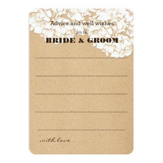 Rustic Hydrangeas Floral Wedding Advice 13 Cm X 18 Cm Invitation Card