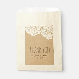 Rustic Hydrangeas Wedding Thank You Favour Bags