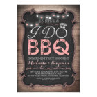rustic I do BBQ engagement party invitation