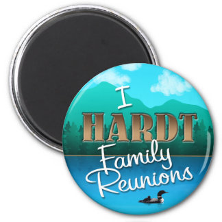 Rustic I Hardt Family Reunions 6 Cm Round Magnet