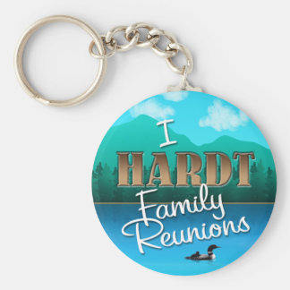 Rustic I Hardt Family Reunions Basic Round Button Key Ring