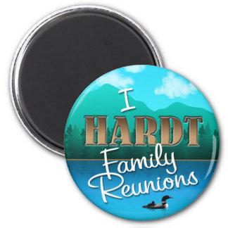 Rustic I Hardt Family Reunions 6 Cm Round Magnet