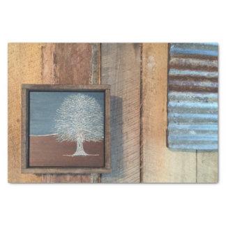 Rustic Industrial Art Tissue Paper