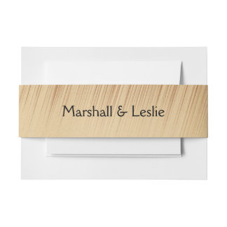 Rustic Invitation Belly Band
