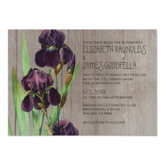 Rustic Iris Wedding Invitations