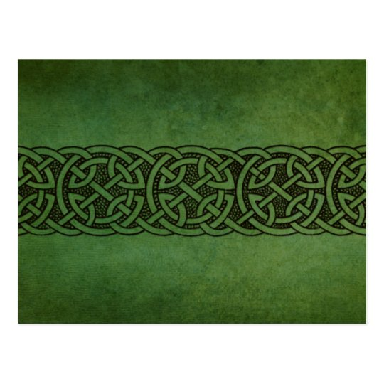 Rustic Irish Celtic Knot Ornament Postcard
