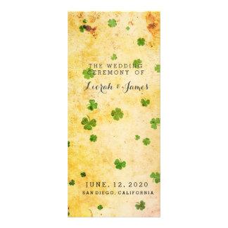 Rustic Irish themed Watercolor Custom Rack Card