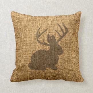 Rustic Jackalope Cushion