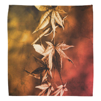 Rustic Japanese Maple Foliage Portrait Bandana
