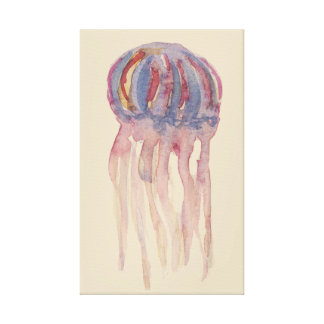 Rustic jellyfish art canvas print
