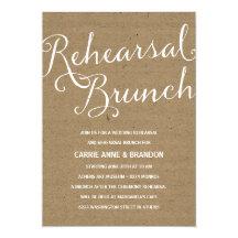 Rustic Kraft | Calligraphy Rehearsal Brunch 5x7 Paper Invitation Card