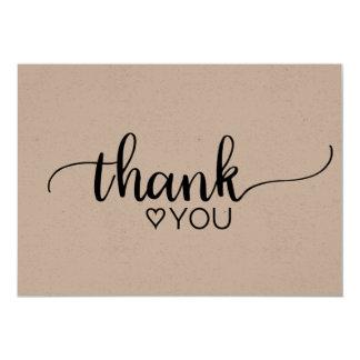 Rustic Kraft Calligraphy Thank You Card