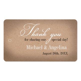 Rustic Kraft Design 100/pk DIY Wedding Favour Tags Pack Of Standard Business Cards