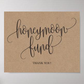 Rustic Kraft Honeymoon Fund Wedding Sign