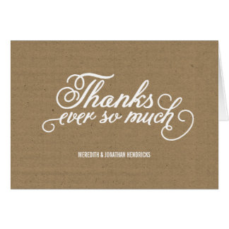 Rustic Kraft Paper Thank You Note Card