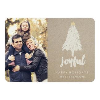 Rustic Kraft Pine Tree | Holiday Card 13 Cm X 18 Cm Invitation Card