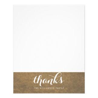 Rustic Kraft Print - Thanks Thanksgiving Family Flyer
