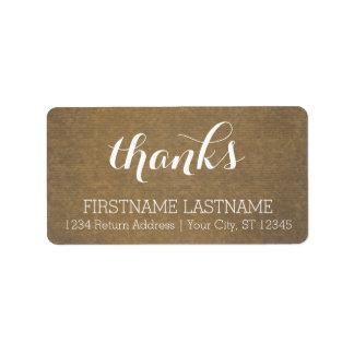 Rustic Kraft Print - Thanks Thanksgiving Family Label