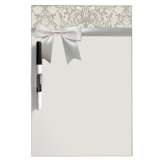Rustic Lace and Linen Vintage Modern Dry-Erase Board