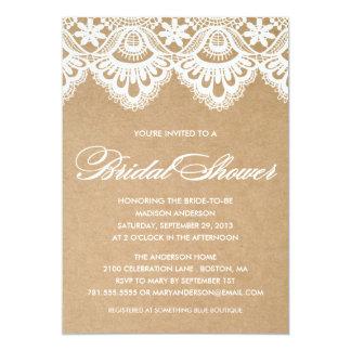 RUSTIC LACE   BRIDAL SHOWER INVITATION