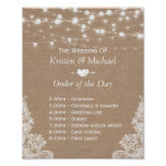 Rustic Lace Burlap Order of The Day Wedding Sign