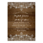 Rustic Lace Country Wood Vintage Luxury Wedding Card