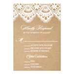 RUSTIC LACE | WEDDING RSVP ENCLOSURE CARD 2 PERSONALISED INVITE
