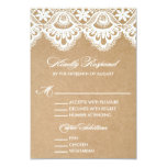 RUSTIC LACE | WEDDING RSVP ENCLOSURE CARD 2 PERSONALISED INVITE
