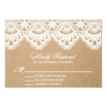 RUSTIC LACE | WEDDING RSVP ENCLOSURE CARD 9 CM X 13 CM INVITATION CARD