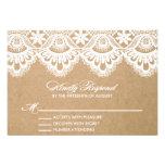 RUSTIC LACE | WEDDING RSVP ENCLOSURE CARD INVITES