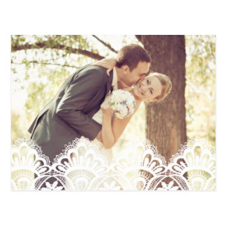 RUSTIC LACE | WEDDING THANK YOU PHOTO POST CARD