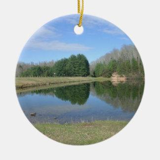 Rustic Lake Ornament