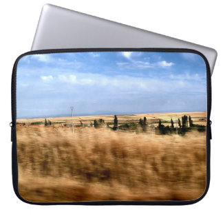 Rustic landscape from a car laptop computer sleeves