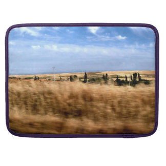 Rustic landscape from a car sleeve for MacBook pro
