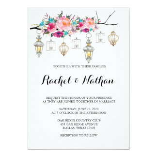 Rustic Lantern Wedding Invitations