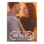 Rustic Laurel | Photo Save the Date Post Card