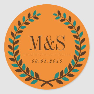 Rustic Laurel Wreath Bridal Shower Sticker