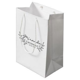 Rustic Laurels Personalized Bridesmaids Medium Gift Bag
