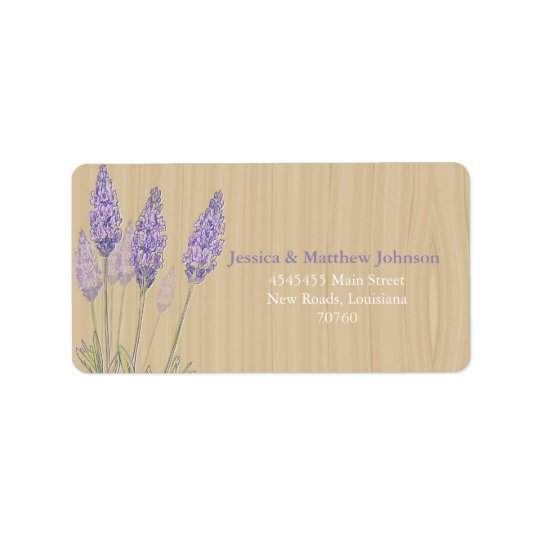 Rustic Lavender Label