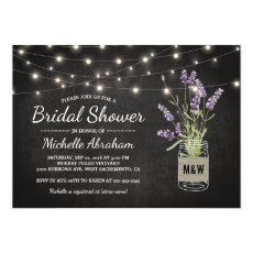 Rustic Lavender Mason Jar Lights Bridal Shower