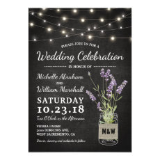 Rustic Lavender Mason Jar Lights Wedding