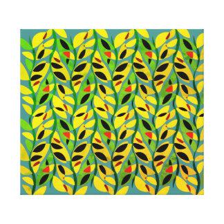 Rustic Leaf Vine Pattern Canvas Print