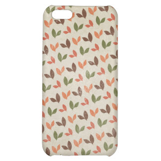 Rustic Leaves Fall Autumn Vintage Leaf Print iPhone 5C Cover