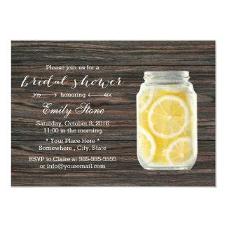 Rustic Lemonade Mason Jar Bridal Shower Card