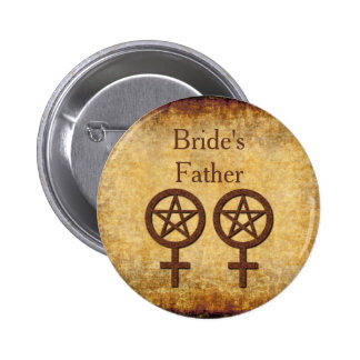 Rustic Lesbian Handfasting Bride's Father pin