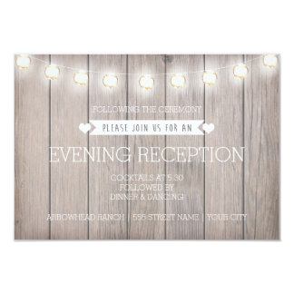 RUSTIC LIGHTS - EVENING RECEPTION CARD