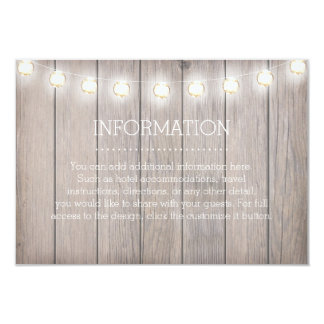 Rustic Lights Information Card