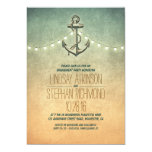 Rustic lights nautical engagement party invitation